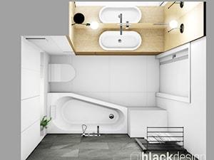 Średnia łazienka z pralką
