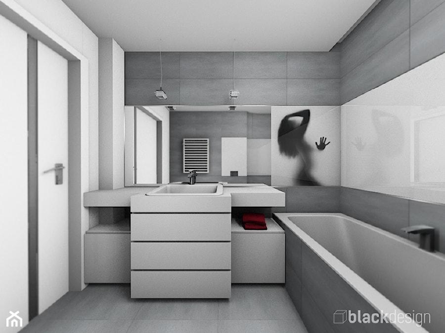 Łazienka szaro biała - zdjęcie od black design - homebook