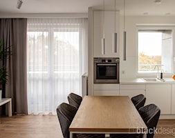 Ciepłe mieszkanie / drewno + szarości - Jadalnia, styl skandynawski - zdjęcie od black design - Homebook
