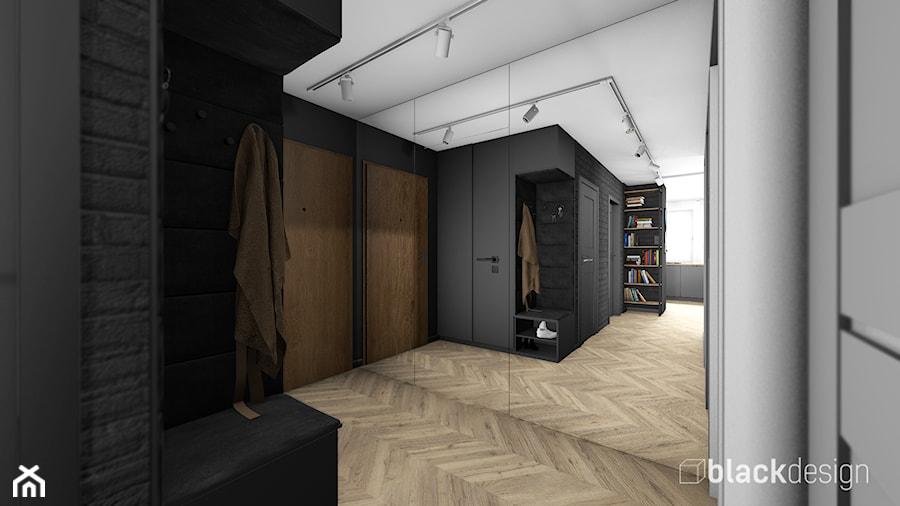 Eklektyczne mieszkanie w Gdyni - Hol / przedpokój, styl eklektyczny - zdjęcie od black design