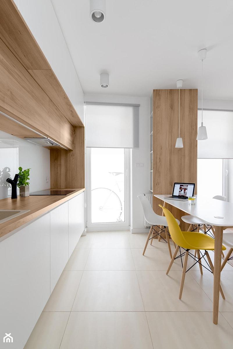 Mieszkanie M&M  Średnia kuchnia jednorzędowa w aneksie