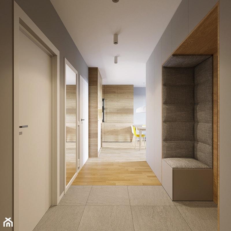 Mieszkanie PW - Średni szary hol / przedpokój, styl nowoczesny - zdjęcie od 081 architekci