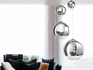 Wiszące kule SILVER BALL | Lampy w barwie chromu