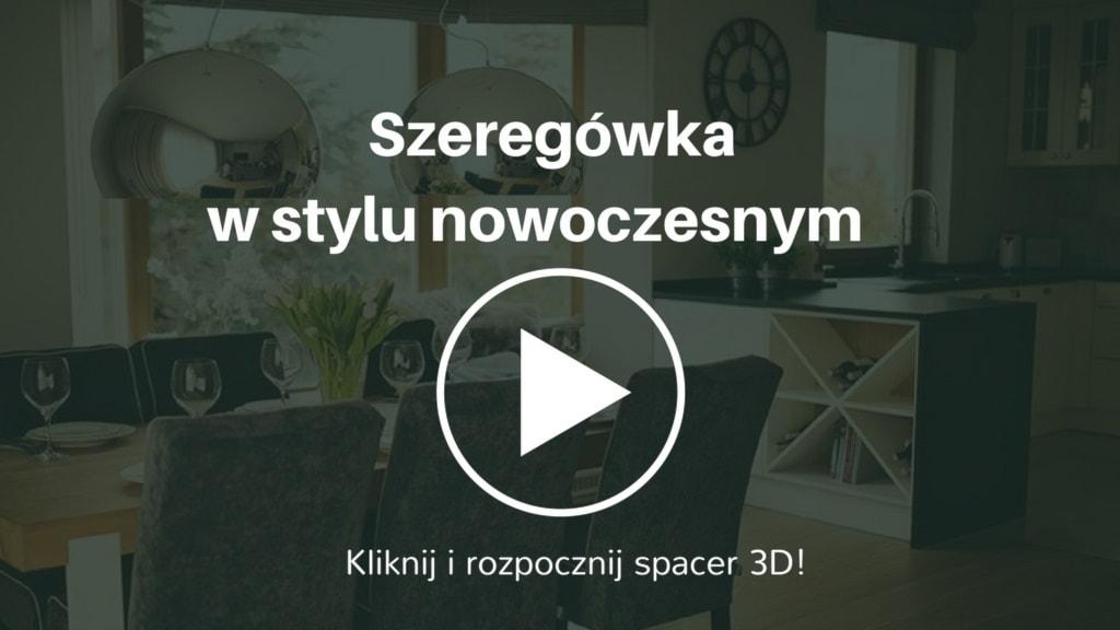 Elegancka aranżacja domu w szeregu z elementami stylu skandynawskiego. Jego powierzchnia wynosi 160 mkw. Inwestorami są rodzice z dwiema córkami.
