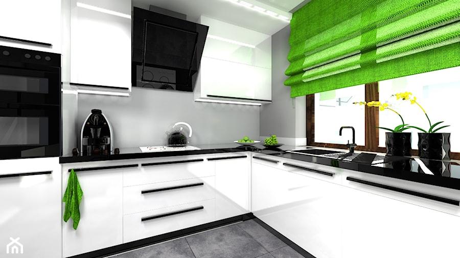 Czarna , biała czy szara?  zdjęcie od wyszomirska design -> Kuchnia Biala Szara