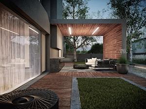 Architektura - GREY (Warszawa), 2011. - Duży taras z tyłu domu na dachu, styl nowoczesny - zdjęcie od STUDIO.O. organic design