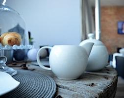 #konkurs Nasza jesienna jadalnia - Mała otwarta szara jadalnia w salonie, styl industrialny - zdjęcie od My Sweet Dreaming Home