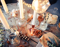 Święta w kolorze aksamitnej zieleni i miedzi - Jadalnia, styl skandynawski - zdjęcie od My Sweet Dreaming Home - Homebook
