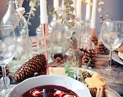 Święta w kolorze aksamitnej zieleni i miedzi - Kuchnia, styl skandynawski - zdjęcie od My Sweet Dreaming Home - Homebook