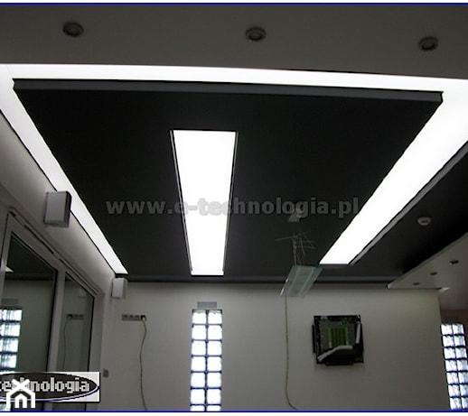 Sufit napinany podświetlony taśmami LED w kuchni  zdjęcie   -> Kuchnia Sufit Led