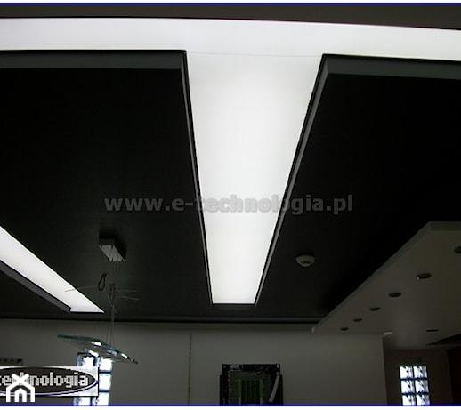 Sufit napinany podświetlony LED w kuchni  zdjęcie od   -> Kuchnia Sufit Led