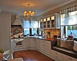Duża beżowa kuchnia w kształcie litery l, styl prowansalski - zdjęcie od Daria Jurczyk-Ziółkowska