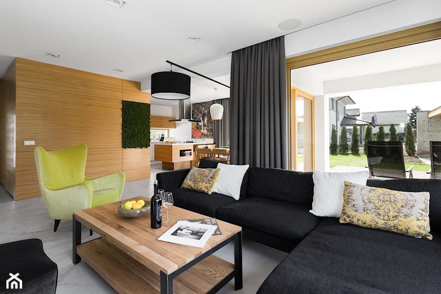 Dom w jaworznie du y salon z kuchni z jadalni z for 201 twiggs studio salon