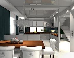 DOM PAJĘCZNO - Średnia otwarta biała jadalnia w kuchni, styl nowoczesny - zdjęcie od ALI DECOR ALINA KOWALSKA PROJEKTOWANIE I ARANŻACJA WNĘTRZ