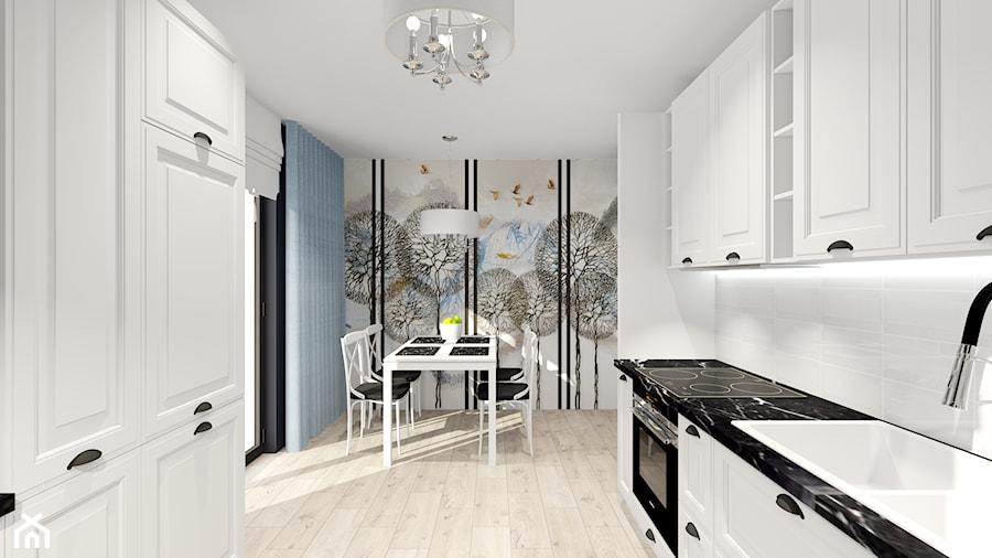 salon z kuchnią - Kuchnia, styl prowansalski - zdjęcie od ALI DECOR ALINA KOWALSKA PROJEKTOWANIE I ARANŻACJA WNĘTRZ