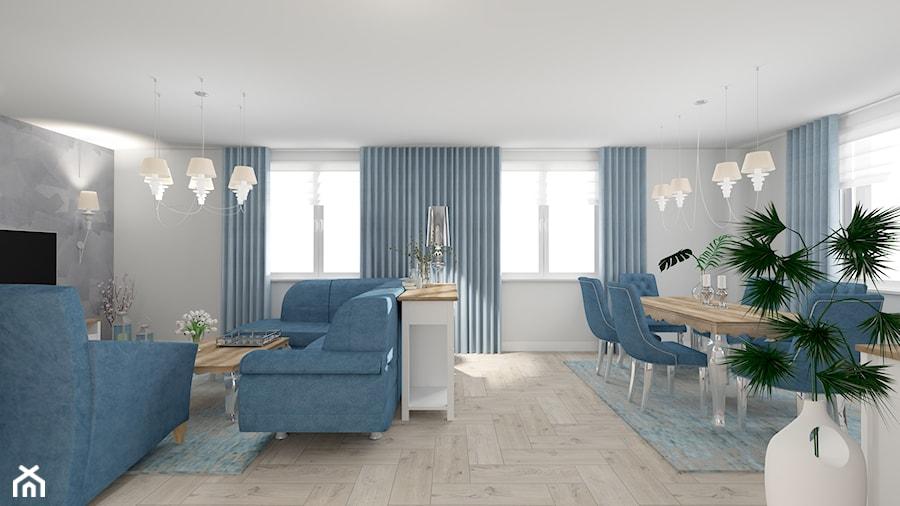 salon z kuchnią - Salon, styl prowansalski - zdjęcie od ALI DECOR ALINA KOWALSKA PROJEKTOWANIE I ARANŻACJA WNĘTRZ