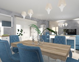 salon z kuchnią - Salon, styl prowansalski - zdjęcie od ALI DECOR ALINA KOWALSKA PROJEKTOWANIE I ARANŻACJA WNĘTRZ - Homebook