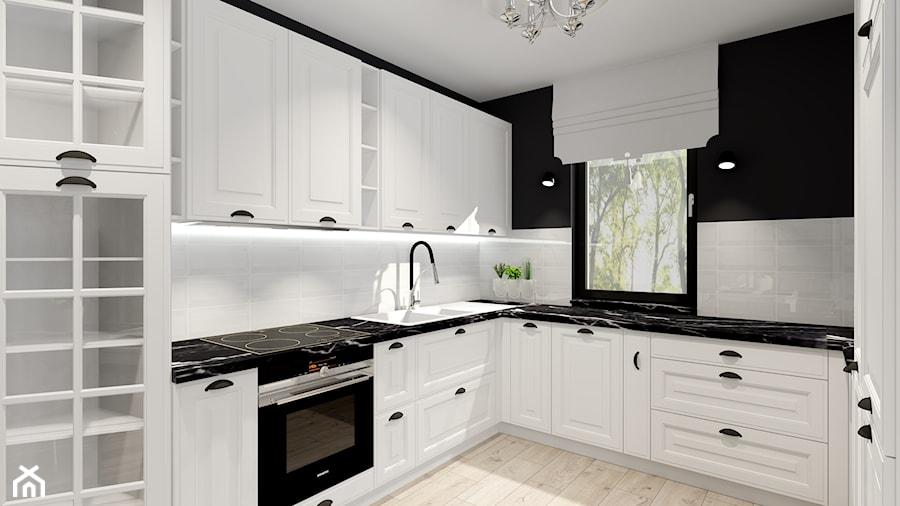 salon z kuchnią - Kuchnia, styl klasyczny - zdjęcie od ALI DECOR ALINA KOWALSKA PROJEKTOWANIE I ARANŻACJA WNĘTRZ