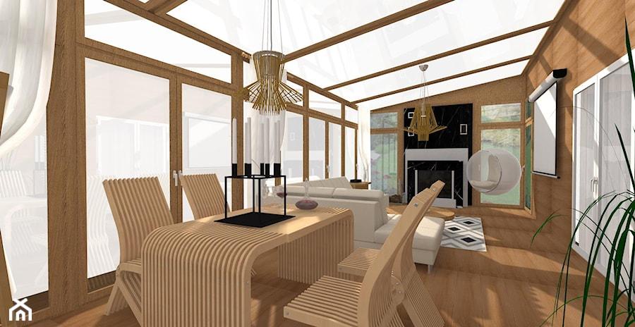 metamorfoza domu - Duży taras z tyłu domu, styl nowoczesny - zdjęcie od ALI DECOR ALINA KOWALSKA PROJEKTOWANIE I ARANŻACJA WNĘTRZ