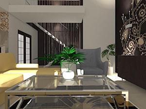 Salon z jadalnią - Mały szary czarny salon, styl klasyczny - zdjęcie od ALI DECOR ALINA KOWALSKA PROJEKTOWANIE I ARANŻACJA WNĘTRZ