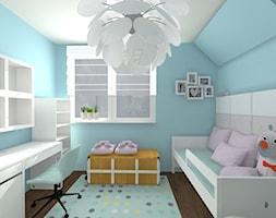 POKÓJ JULII - Mały niebieski pokój dziecka dla chłopca dla dziewczynki dla ucznia dla malucha dla nastolatka, styl nowoczesny - zdjęcie od ALI DECOR ALINA KOWALSKA PROJEKTOWANIE I ARANŻACJA WNĘTRZ