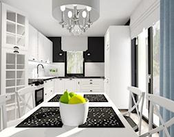 salon z kuchnią - Kuchnia, styl glamour - zdjęcie od ALI DECOR ALINA KOWALSKA PROJEKTOWANIE I ARANŻACJA WNĘTRZ - Homebook