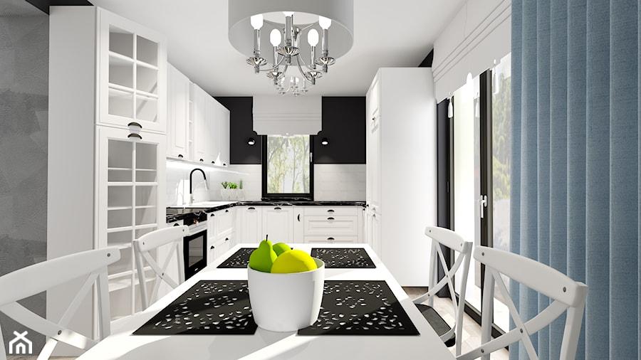 salon z kuchnią - Kuchnia, styl glamour - zdjęcie od ALI DECOR ALINA KOWALSKA PROJEKTOWANIE I ARANŻACJA WNĘTRZ