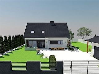 Projekt elewacji budynku mieszkalnego jednorodzinnego w Radomsku