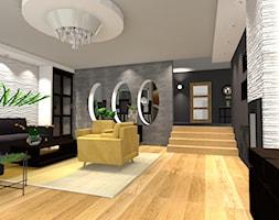 METAMORFOZA SALONU - Średni szary czarny salon z jadalnią, styl nowoczesny - zdjęcie od ALI DECOR ALINA KOWALSKA PROJEKTOWANIE I ARANŻACJA WNĘTRZ