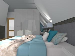 Sypialnia - Średnia szara sypialnia małżeńska na poddaszu, styl tradycyjny - zdjęcie od ALI DECOR ALINA KOWALSKA PROJEKTOWANIE I ARANŻACJA WNĘTRZ