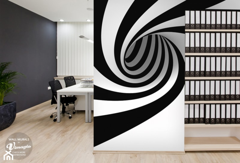 du e szare biuro domowe w pokoju zdj cie od vimagio On murales en 3d para cualquier ambiente
