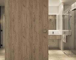 Projekt mieszkania we Wrocławiu - Średnia biała łazienka na poddaszu w bloku w domu jednorodzinnym b ... - zdjęcie od CUDO STUDIO - Homebook