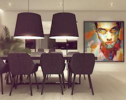 POP ART HOUSE - Duża otwarta beżowa jadalnia jako osobne pomieszczenie, styl minimalistyczny - zdjęcie od CUDO STUDIO - Homebook