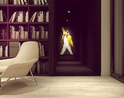 POP ART HOUSE - Duży biały czarny hol / przedpokój, styl minimalistyczny - zdjęcie od CUDO STUDIO - Homebook