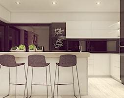 POP ART HOUSE - Duża zamknięta biała kuchnia w kształcie litery l w aneksie z wyspą, styl minimalis ... - zdjęcie od CUDO STUDIO - Homebook