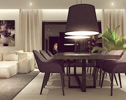 POP ART HOUSE - Duża otwarta szara jadalnia w salonie, styl minimalistyczny - zdjęcie od CUDO STUDIO - Homebook