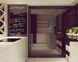 POP ART HOUSE - Średnia zamknięta szara kuchnia w kształcie litery l z wyspą z oknem, styl minimali ... - zdjęcie od CUDO STUDIO - Homebook
