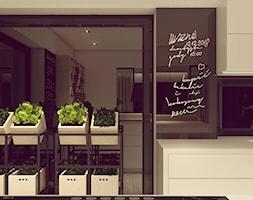 POP ART HOUSE - Mała czarna kuchnia jednorzędowa w aneksie, styl minimalistyczny - zdjęcie od CUDO STUDIO - Homebook