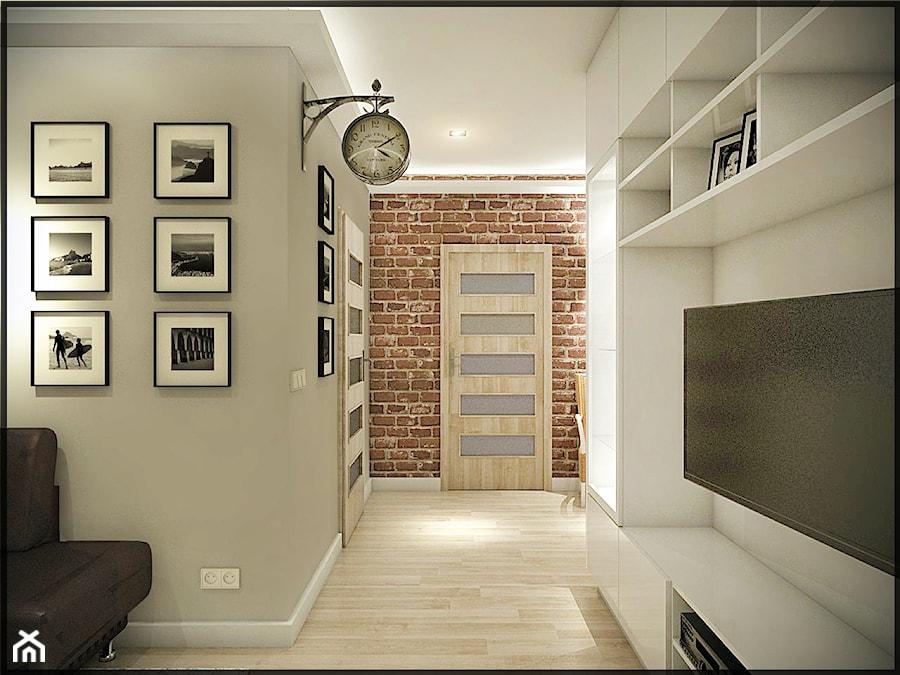 Mieszkanie w starej kamienicy - Mały szary salon, styl minimalistyczny - zdjęcie od CUDO - grupa projektowa