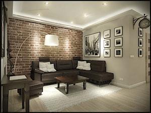 Mieszkanie w starej kamienicy - Średni szary salon, styl minimalistyczny - zdjęcie od CUDO - grupa projektowa