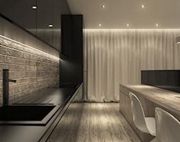 Projekt mieszkania we Wrocławiu - Średnia otwarta kuchnia jednorzędowa z oknem, styl minimalistyczn ... - zdjęcie od CUDO STUDIO - Homebook