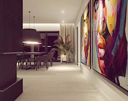POP ART HOUSE - Duża otwarta biała czarna jadalnia jako osobne pomieszczenie, styl minimalistyczny - zdjęcie od CUDO STUDIO - Homebook