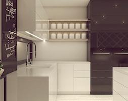 POP ART HOUSE - Średnia biała kuchnia w kształcie litery l w aneksie z wyspą z oknem, styl minimali ... - zdjęcie od CUDO STUDIO - Homebook