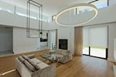 minimalistyczna lampa sufitowa w kształcie pierścienia =