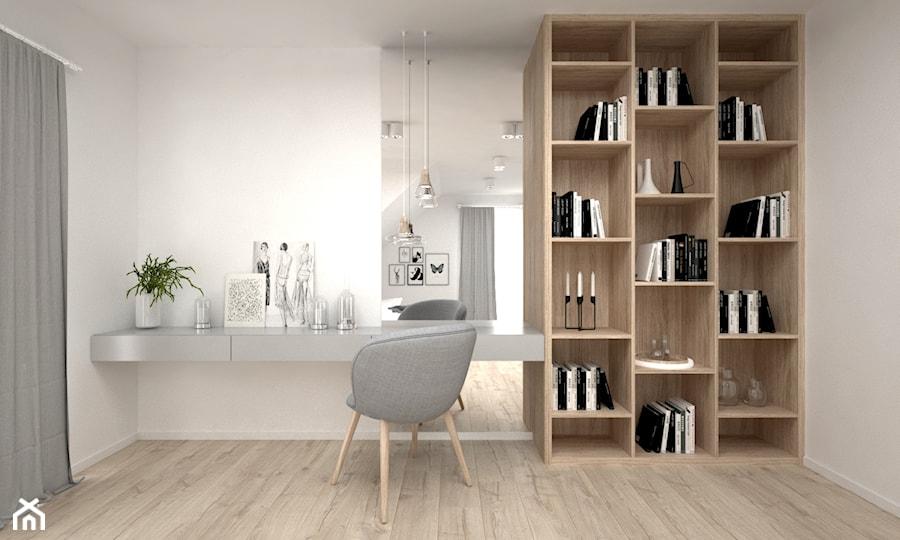 Projekt poddasza 45 m2 / Jabłonka - Sypialnia, styl skandynawski - zdjęcie od BIG IDEA studio projektowe
