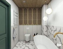 Projekt mieszkania 100m2 / Kraków / Łazienka główna - zdjęcie od BIG IDEA studio projektowe - Homebook