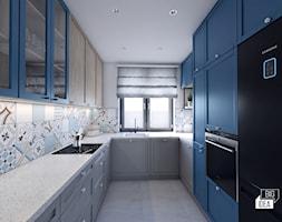 Projekt domu 107,52 m2 / Wieliczka - Średnia zamknięta szara kuchnia w kształcie litery u z oknem, styl eklektyczny - zdjęcie od BIG IDEA studio projektowe - Homebook