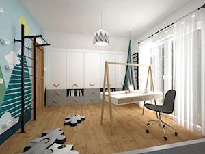 Pokoje dla dzieci 17 + 17 m2 / Nowy Targ - Średni szary kolorowy pokój dziecka dla chłopca dla dziewczynki dla ucznia dla malucha dla nastolatka, styl nowoczesny - zdjęcie od BIG IDEA studio projektowe