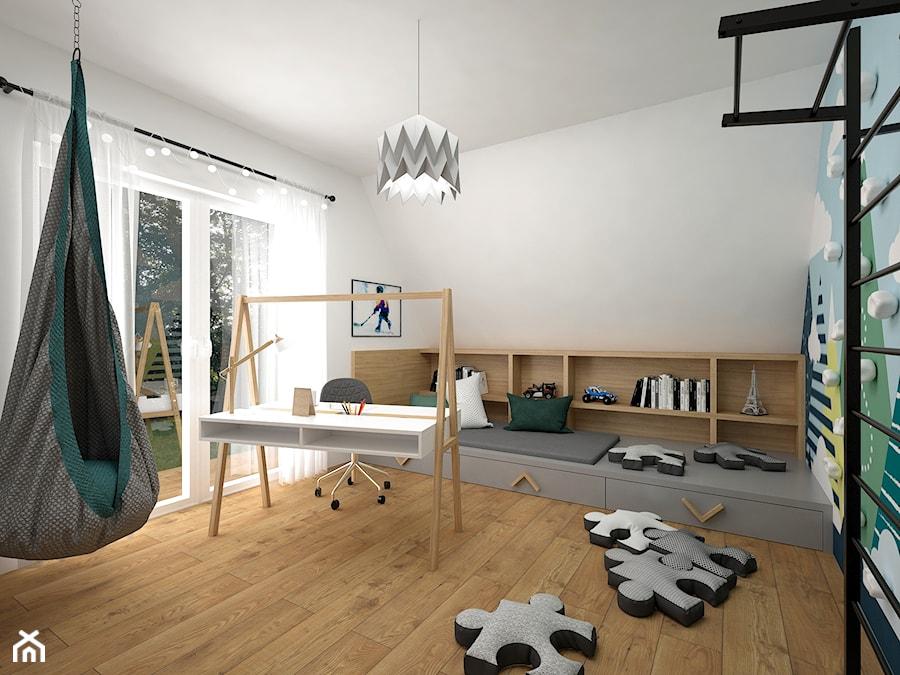 Pokoje dla dzieci 17 + 17 m2 / Nowy Targ - Średni biały kolorowy pokój dziecka dla chłopca dla dziewczynki dla ucznia dla nastolatka, styl nowoczesny - zdjęcie od BIG IDEA studio projektowe
