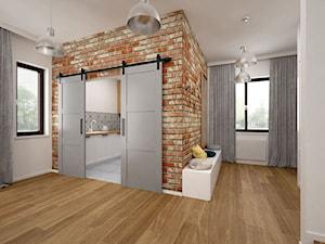Projekt mieszkania 85 m2 / Kraków - Średni biały hol / przedpokój, styl skandynawski - zdjęcie od BIG IDEA studio projektowe